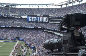 Sony's F65 camera in use by Fox Sports at MetLife Stadium.