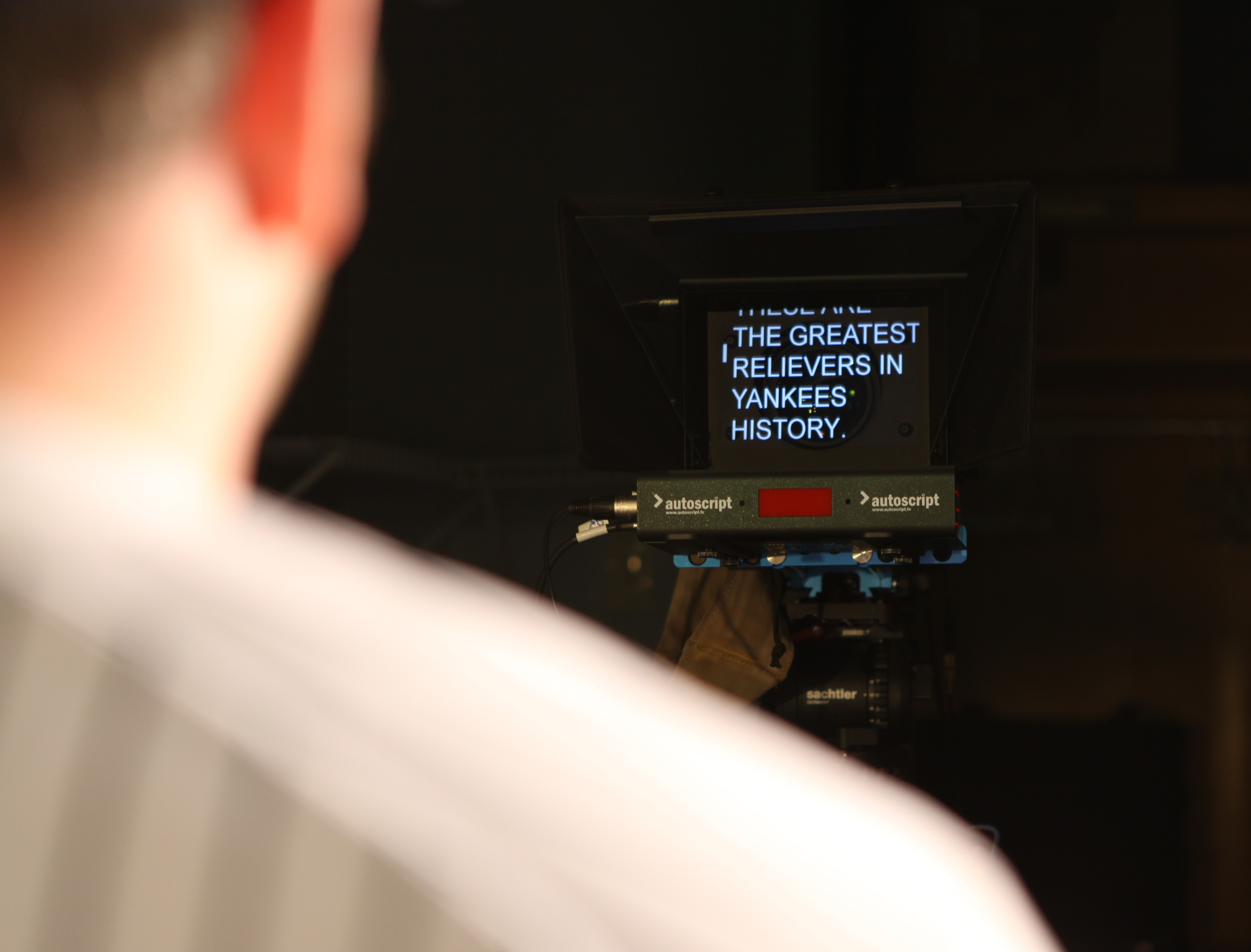 New York Yankees Utilize Autoscript Teleprompters, Software