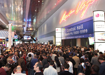Attendees await the opening of the International CES at the Las Vegas Convention Center.