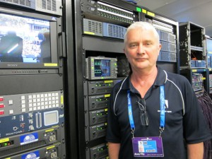 Kevin Moorhouse, Gearhouse Broadcast, COO, is overseeing operations for the company at the Australian Open/