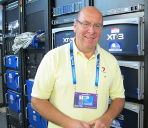 Seven Network's Cory Southey manages operations for the Australian Open.