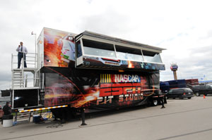 ESPN's Pit Studio is home for NASCAR Countdown and four installments of NASCAR Now.