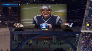 CBS's coverage of the AFC Championship included virtual billboards created using SMT technology.