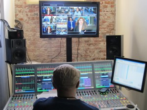 A Calrec Artemis audio console coupled with a Hydra fiber kit handled audio needs for CNN's Bleacher Report.