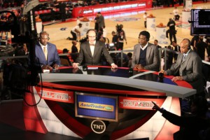 TNT's set inside the Toyota Center.