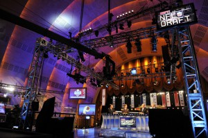 ESPN will televise 15.5 hours of live draft coverage over three days.