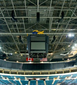 Switching from AHL to NHL, MTS Centre got a new sound system to match sell-out crowds.