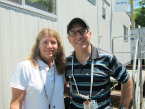 Denise LaPlace and Louis Libin are coordinating the hundreds of wireless spectrum users at the US Open.