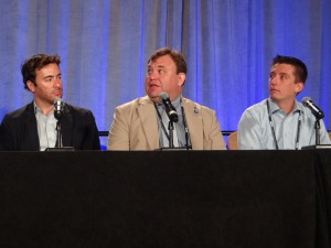 From left: Mass Relevance's Josh Rickel, Columbia University's Alex Oberweger, and University of Miami's Brian Bowsher