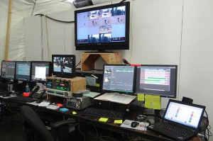 The EVS Portal area at the LA Live Operations Center