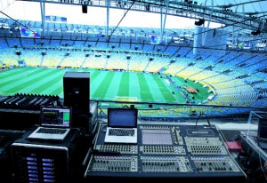 The Digico SD8 audio console in action at the Confed Cup.