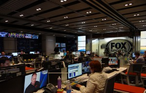 The Fox Sports newsroom