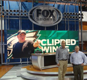 Todd Daly (left) and Jack Simmons on hand at Fox Sports newly revamped Studio B.