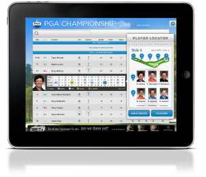 The new iPad app provides three dominant screens for live video, live scoring, and media.