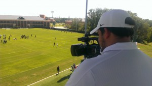 The Baylor football video team began using several new Panasonic AG-AC160A AVCCAM HD camcorders to film practices during camp this summer.