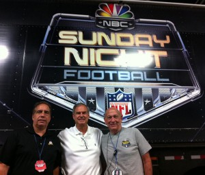 From left: Tim Dekime, Ken Goss, and John Roche in front of the SNF ND3 mobile unit