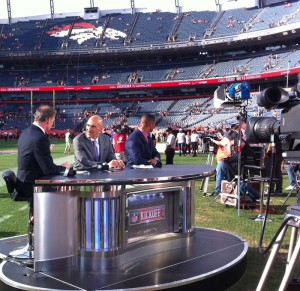 The Football Night in America set at Sports Authority Field