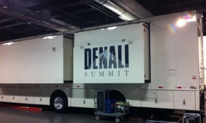 Denali Summit, which handled the on-site Football Night in America show, was parked inside the Mile High Compound.