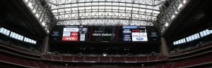 Reliant Stadium houses the largest videoboard in the NFL, the widest in professional sports.