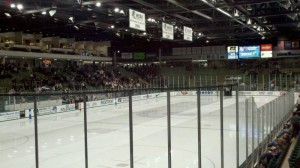 Major renovations could be coming to Michigan State's Munn Ice Arena, which currently features SD videoboards on each side of the rink.