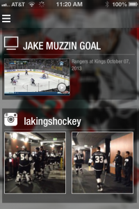 HD video is at the center of the apps, especially for teams like the Los Angeles Kings that have strong  video production outfits.
