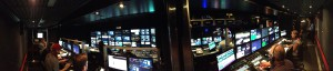 A panoramic view from inside Game Creek's new NESN truck. (courtesy Gary Roy, NESN)