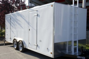 Built by Custom Mobile Products, the unit is designed to meet the needs of SJU-TV's IP-transport model.