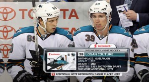 The Scotiabank credit-card image has been built into TSN's player-bio cards.