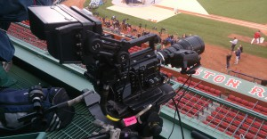 Sony's F55 camera positioned at Boston's Fenway Park for the 2013 World Series.