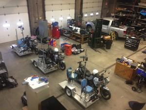 CP preps the new motorcycles, lead trucks for Sunday's Marathon.