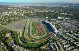 AVS supplied RF cameras for two-day event at Santa Anita racetrack in California.