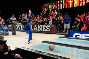Chris Barnes wins the 2013 PBA Viper Championship on lanes highlighted by custom blue dye.