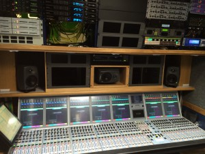 HD4's Calrec Artemis audio console with Bluefin2 and Hydra2 technology