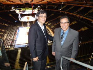 MSG's Gerard Pessaro (left) and Mike Mitchell