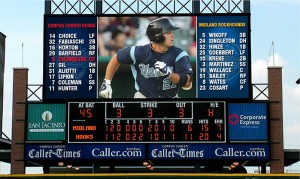 For the 2014 season, the Corpus Christi Hooks installed a new Daktronics LED video display at Whataburger Field in Corpus Christ, Texas