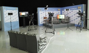 The IBC for the 27th SEA Games in Myanmar featured a three-camera TV studio built by ABS for use by visiting media outlets.