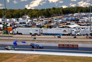 Crosscreek's Voyager in the compound at Indianapolis's Lucas Oil Raceway last season