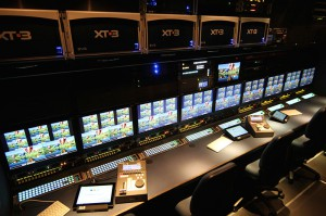 The replay area is wired to handle up to nine EVS XT3 replay servers.