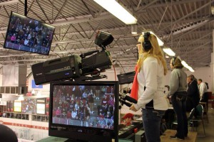 Husky Productions will deploy 11 cameras throughout Herb Brooks National Hockey Center, five of which are Grass Valley LDK 8000s operated by students.