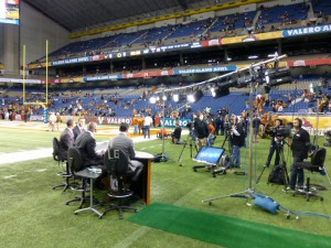 For its studio coverage of the Alamo Bowl, Longhorn Network utilized Prism Projection's RevEAL line of LED lighting instruments.