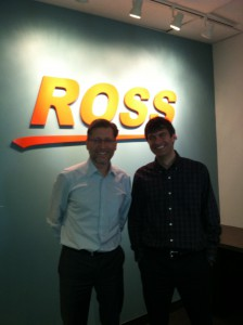 Jeff Moore (left) and David Ross at Ross Video's Ottawa campus