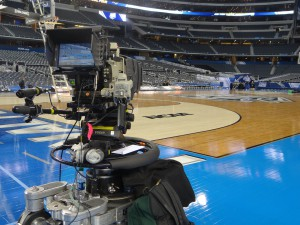 Slash cameras are positioned on the court in the southeast and southwest corners.