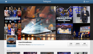 The NCAA launched a March Madness Instagram page at the start of this season.