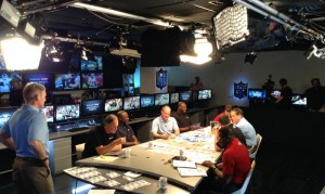 NFL Media transformed the Art McNally GameDay Central inside league headquarters into a pseudo-studio for the NFL Media Mock Draft earlier this week.