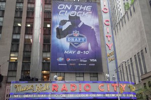 Radio City Music Hall has once again become NFL Draft central.