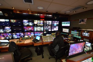 The interior of NEP EN1's A unit during Day 1 of the 2014 NFL Draft. (Photo by Rich Arden / ESPN Images)