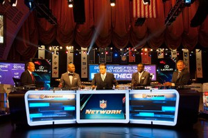 NFL Network debuted a new desk (shown here) at its main set inside Radio City.