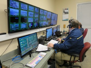The auxiliary control room at Churchill Downs has control of a mix effect in the core production truck via a software interface.