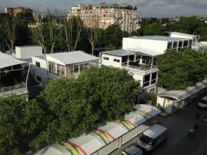 A view of the TV compound from Chatrier