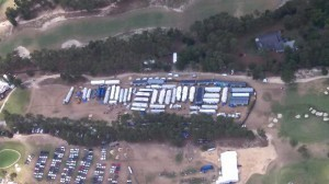 The sprawling production compound at Pinehurst